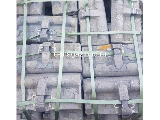 Колодка тормозная локомотивная тип М ТУ 32-ЦТВР 165-87 чертеж 44-52-87-01 ГОСТ 30249-97 - 1