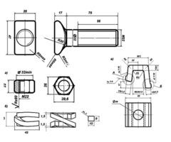 Болт клеммный М22Х75 ГОСТ 16016 -79, 16016-2014 из наличия. - Изображение 2