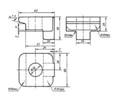 Клемма КС1 ТУ 32 ЦП 494-76 лапка удержки. - Изображение 2