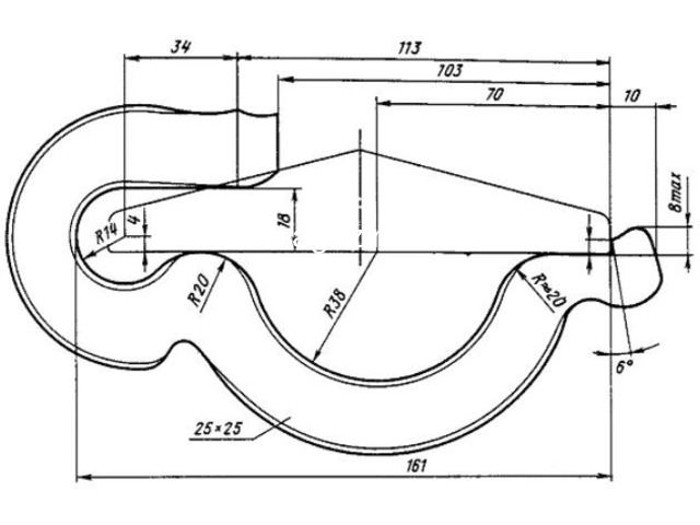 Противоугон  пружинный П65 по ТУ 14-4-1438-87 к рельсам типа Р65 - 3
