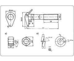 Болт стыковой М22х115 в сборе ГОСТ 11530-93, новый  на складе - Изображение 2